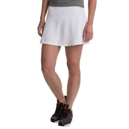 Kyodan Honeycomb Mesh Skort - Built-In Shorts (For Women) in White - Closeouts