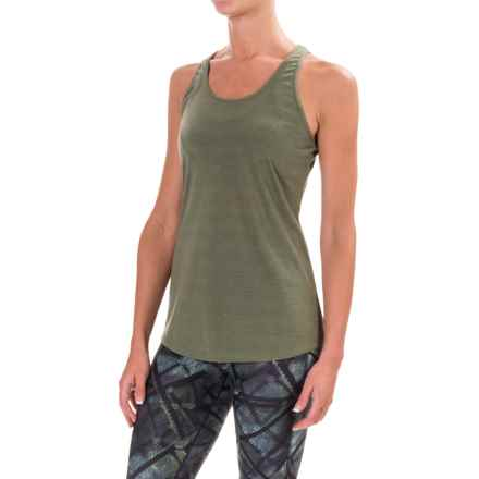 Kyodan Knotted Keyhole Shirt - Sleeveless (For Women) in Moss 2 Mix - Closeouts