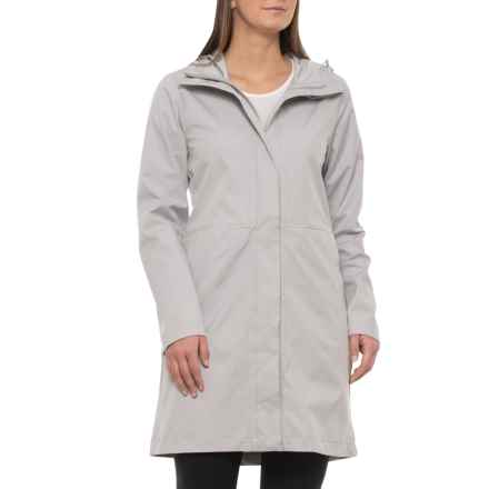 Kyodan Long Rain Jacket - Waterproof (For Women) in Dove Grey