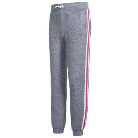 Kyodan Melange Joggers (For Big Girls) in Slate Melange/Pink Glow - Closeouts
