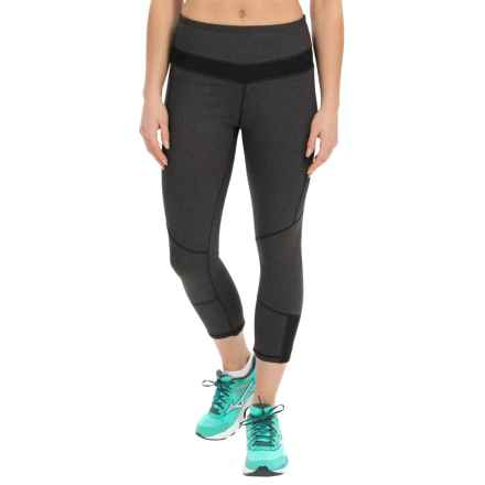 Kyodan Mini Mesh Technical Capris - UPF 40+ (For Women) in Black Melange - Closeouts