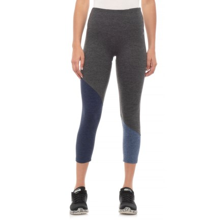 32f309b084dffc Kyodan Moss Jersey Color-Block Capris (For Women) in Charcoal Combo -  Closeouts