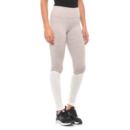 6570486eef4fb Kyodan Moss Jersey Leggings (For Women) in Driftwood Heather/Cream Heather  - Closeouts