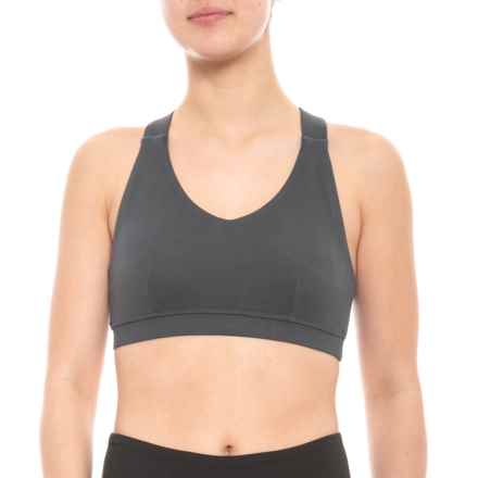 79d43e6bb92cd Kyodan Moss Jersey Sports Bra - Removable Cups (For Women) in Charcoal -  Closeouts