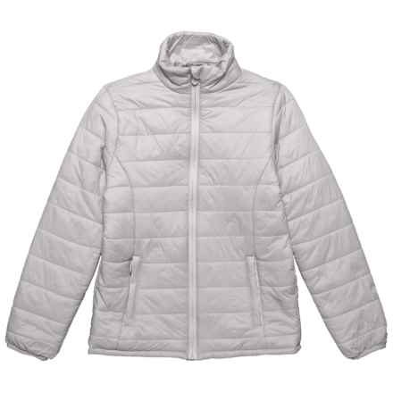 Kyodan Nylon Packable Jacket - Insulated (For Big Girls) in Platinum - Closeouts