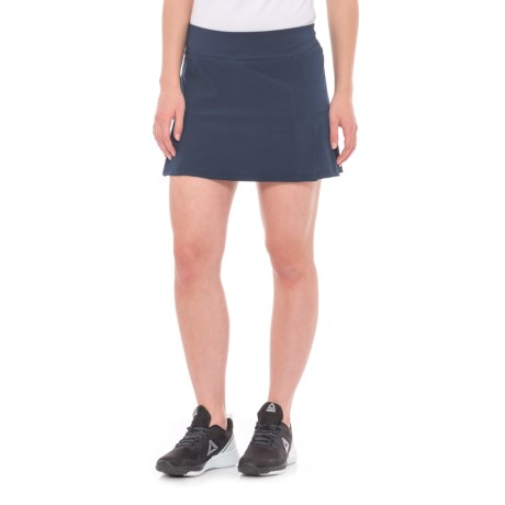 Kyodan Perforated Woven Skorts (For Women) in Navy