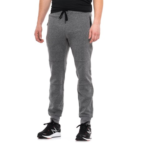 Kyodan Pique Double-Knit Joggers (For Men) in Grey Mix