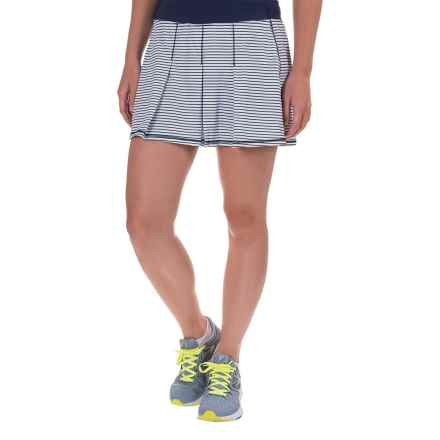 Kyodan Pleated Striped Skort (For Women) in Navy/White - Closeouts