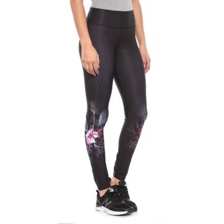 84ecfaa36dd Kyodan Printed Leggings (For Women) in Black Floral Print - Closeouts