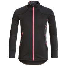 Kyodan Printed Paint Fragment Jacket (For Big Girls) in Black/Pink - Overstock