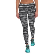 Kyodan Printed Running Tights (For Women) in Peeking Flowers Print - Closeouts