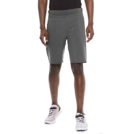Kyodan Printed Woven Shorts (For Men) in Charcoal - Closeouts