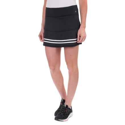 Kyodan Rubber-Striped Skort - Built-In Shorts (For Women) in Black/White - Closeouts