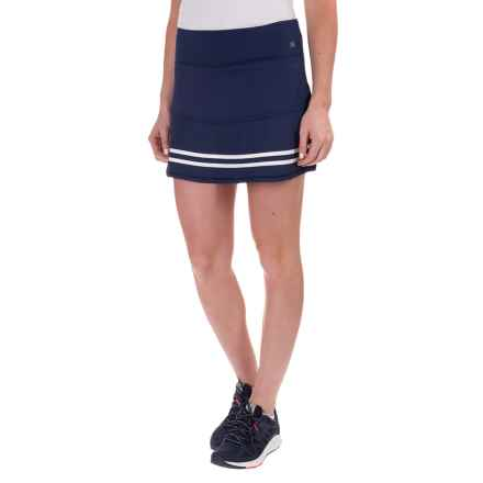 Kyodan Rubber-Striped Skort - Built-In Shorts (For Women) in Navy/White - Closeouts