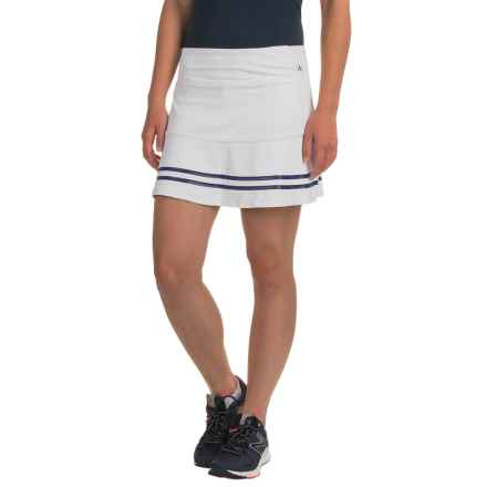 Kyodan Rubber-Striped Skort - Built-In Shorts (For Women) in White/Navy - Closeouts