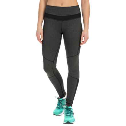 Kyodan Running Tights (For Women) in Black Melange - Closeouts