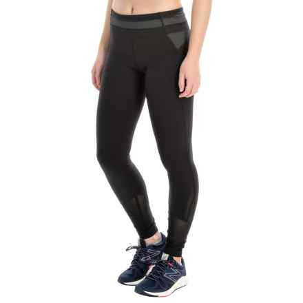 Kyodan Running Tights - UPF 40+ (For Women) in Black - Closeouts