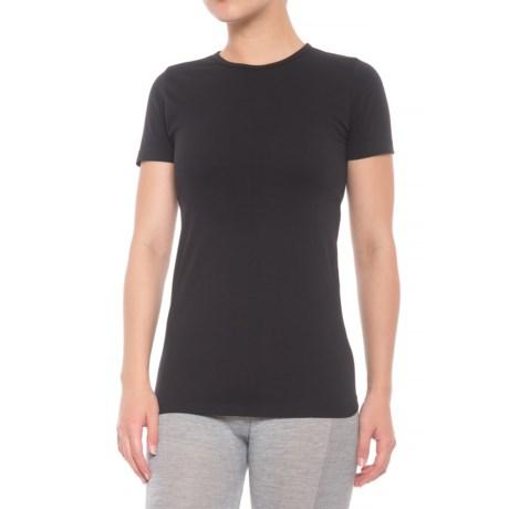 Kyodan Seamless Shirt - Crew Neck, Short Sleeve (For Women) in Black