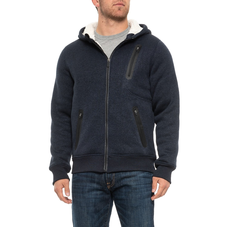 Kyodan Sherpa Lined Sweater Knit Jacket For Men Save 75