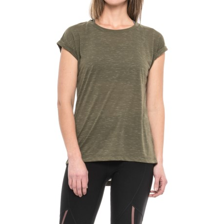 Kyodan Slouchy Shirt - Short Sleeve (For Women) in Olive Mix