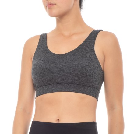b2cf0e653917e Kyodan Solid Moss Jersey Sports Bra - Removable Cups (For Women) in  Charcoal Heather
