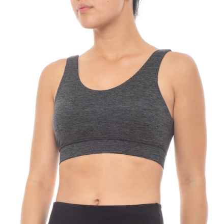 5cc57688bfb87 Kyodan Solid Moss Jersey Sports Bra - Removable Cups (For Women) in  Charcoal Heather