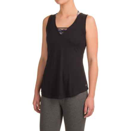 Kyodan Strappy Singlet Shirt - Sleeveless (For Women) in Black - Closeouts