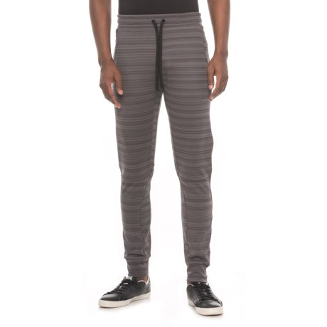 Kyodan Striped Fleece Pants (For Men) in Charcoal Stripe