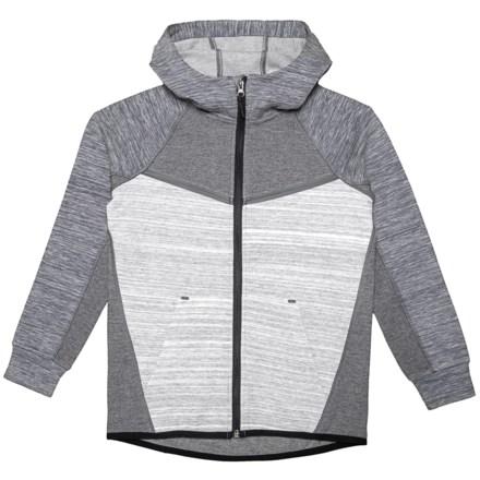 6514fe368 Kyodan Tech Fleece Jacket (For Boys) in Tri-Color Grey Mix - Closeouts