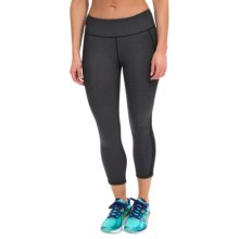 Kyodan Technical Running Capris - UPF 40+ (For Women) in Black Melange - Closeouts