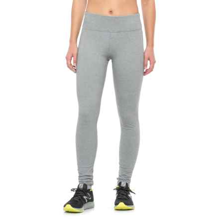 Kyodan Warm Hand Running Tights (For Women) in White Stripe - Closeouts