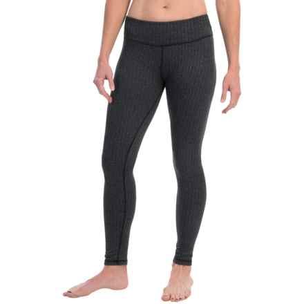 Kyodan Warmhand Leggings (For Women) in Black/Black Melange Herringbone - Closeouts