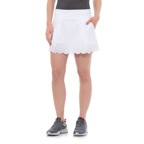 Kyodan Woven Skort with Laser-Cut Hem (For Women) in White