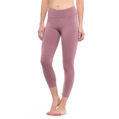 Kyodan Yoga Capris (For Women) in Plum Melange