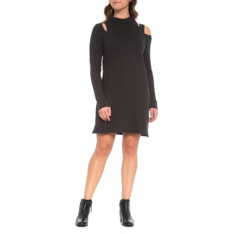 Kyra Open Shoulder Mini Dress - Long Sleeve (For Women)