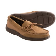L. B. Evans Langford Moccasin Slippers - Canvas-Suede (For Men) in Hashbrown - Closeouts