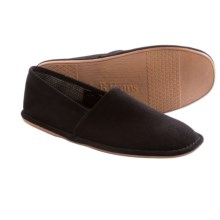 L. B. Evans Lars Suede Slippers (For Men) in Black Suede - Closeouts