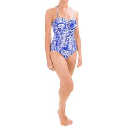 La Blanca Bandeau Halter One-Piece Swimsuit (For Women) in Cobalt - Closeouts