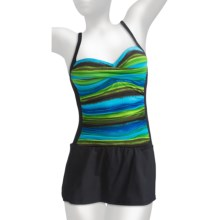 La Blanca by Rod Beattie Mio Swimsuit - 1-Piece, Skirted (For Women) in Rainbow Royal Blue - Closeouts