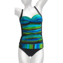 La Blanca by Rod Beattie Sweetheart Tankini Swimsuit - 2-Piece, Shirred Hipster Bottoms (For Women) in Rainbow Royal Blue - Closeouts