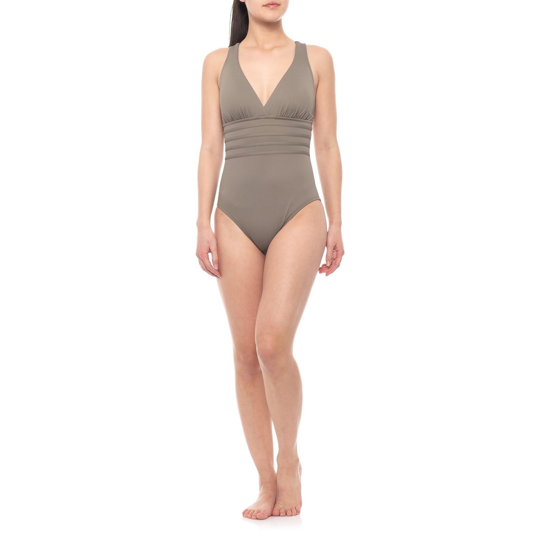 544c779c36b36 La Blanca Island Fare Cross-Back One-Piece Swimsuit (For Women) in ...