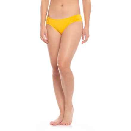 5c3d0db936e1 La Blanca Island Goddess Side-Shirred Hipster Bikini Bottoms (For Women) in  Pineapple