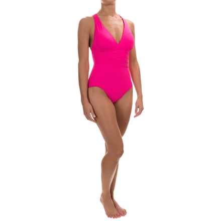 La Blanca Island Goddess Strappy One-Piece Swimsuit (For Women) in Pinkberry - Closeouts