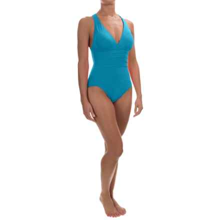 La Blanca Island Goddess Strappy One-Piece Swimsuit (For Women) in Pool - Closeouts