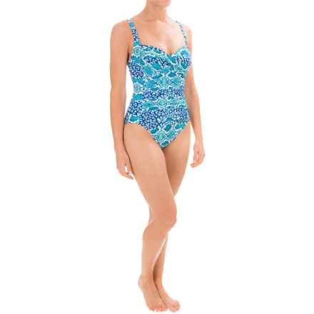 La Blanca Island Goddess Sweetheart Mio One-Piece Swimsuit (For Women) in Turquoise - Closeouts