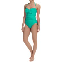 La Blanca One-Piece Bandeau Swimsuit (For Women) in Emerald - Closeouts
