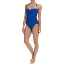 La Blanca One-Piece Bandeau Swimsuit (For Women) in Indigo - Closeouts