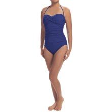 La Blanca One-Piece Bandeau Swimsuit (For Women) in Navy - Closeouts