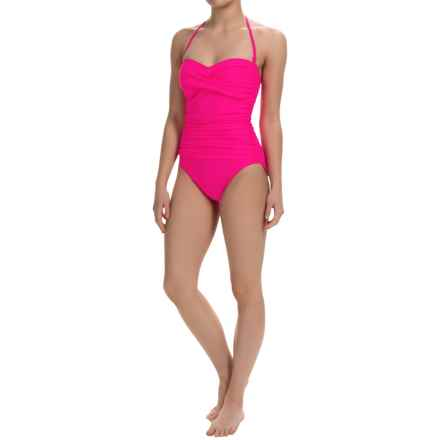 La Blanca One-Piece Bandeau Swimsuit (For Women) in Pink - Closeouts