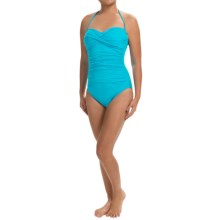 La Blanca One-Piece Bandeau Swimsuit (For Women) in Pool - Closeouts